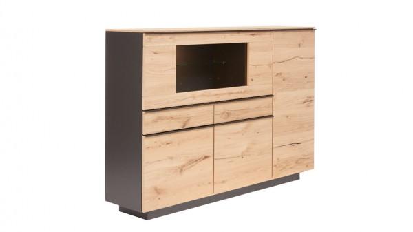 Interliving Wohnzimmer Serie 2103 - Highboard 560813 mit Beleuchtung
