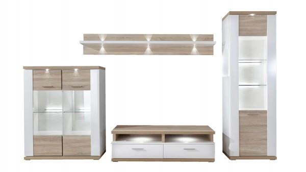 Wohnkombination - Wohnwand mit TV-Möbel