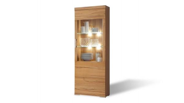 Vitrine, ein Wohnzimmermöbel mit stilvollem Materialmix