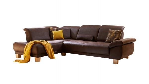Eckkombination mit Sofa und Ottomane