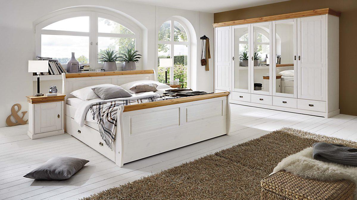 3s frankenm bel schlafzimmer im nordischen landhaus stil mit kleiderschrank glei ner. Black Bedroom Furniture Sets. Home Design Ideas