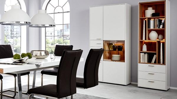 Interliving Wohnzimmer Serie 2102 - Design-Regal mit Schubladen 510469 mit Beleuchtung