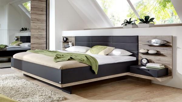 Doppelbettgestell mit Nachtkonsolen