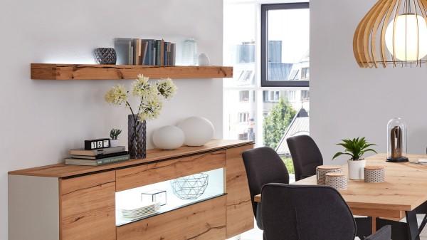 Interliving Wohnzimmer Serie 2103 - Wandregal 560734 mit Beleuchtung
