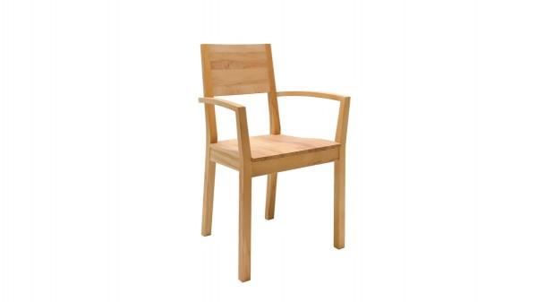 Massivholz-Armlehnstuhl