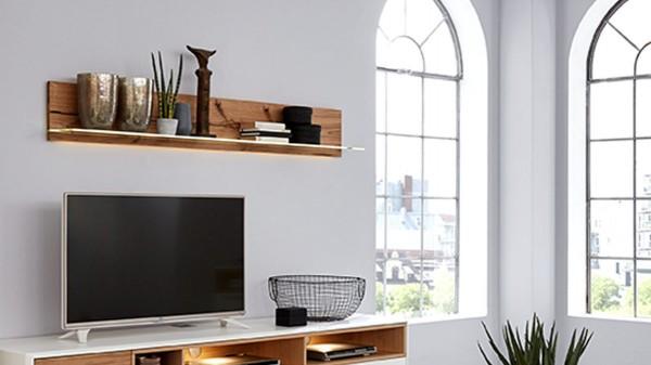Interliving Wohnzimmer Serie 2102 - Wandregal 617 mit Beleuchtung
