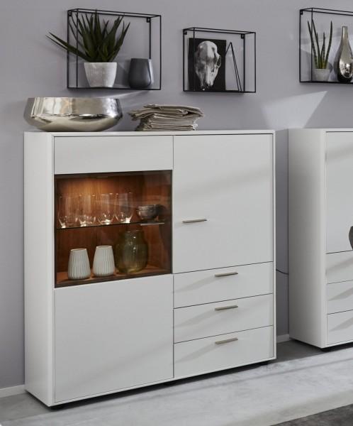Interliving Wohnzimmer Serie 2102 - Highboard 510540 mit Beleuchtung