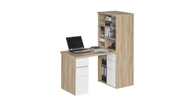 Schreibtisch mit Regalanbau
