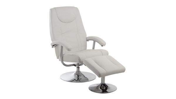 drehbarer Relax-Sessel mit Hocker als Fernsehsessel