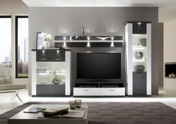 Wohnkombination Manhattan - Wohnwand mit TV-Aufsatz