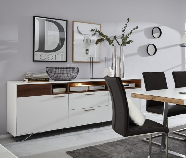 Interliving Wohnzimmer Serie 2102 - Wandregal mit Beleuchtung