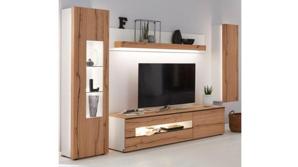 Interliving Wohnzimmer Serie 2103 - Wohnwand 560002F mit Beleuchtung