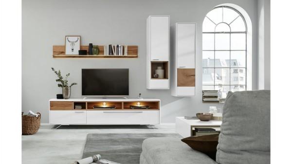 Interliving Wohnzimmer Serie 2102 - Wohnkombination 510802M mit Beleuchtung