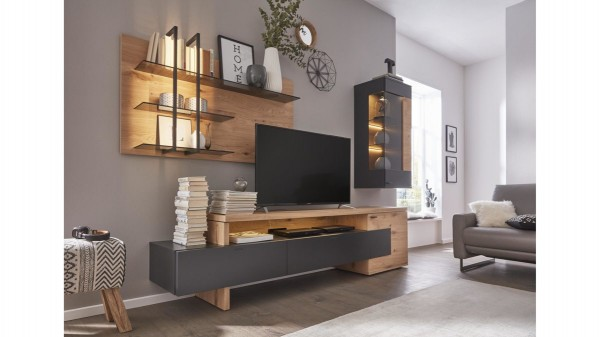 Interliving Wohnzimmer Serie 2104 - Wohnwand IL2