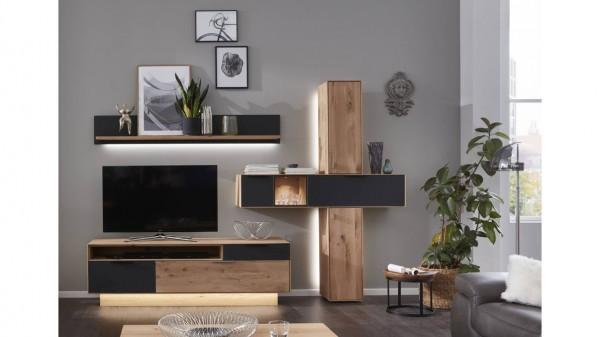 Interliving Wohnzimmer Serie 2005 - Wohnwand mit Beleuchtung