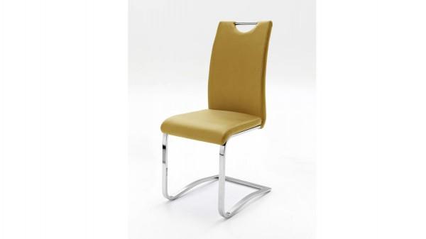 Schwingstuhl, ein Freischwinger mit gepolstertem Sitzkomfort