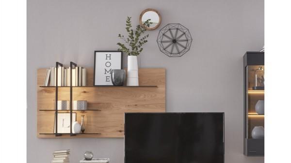 Interliving Wohnzimmer Serie 2104 - Wandregal, links