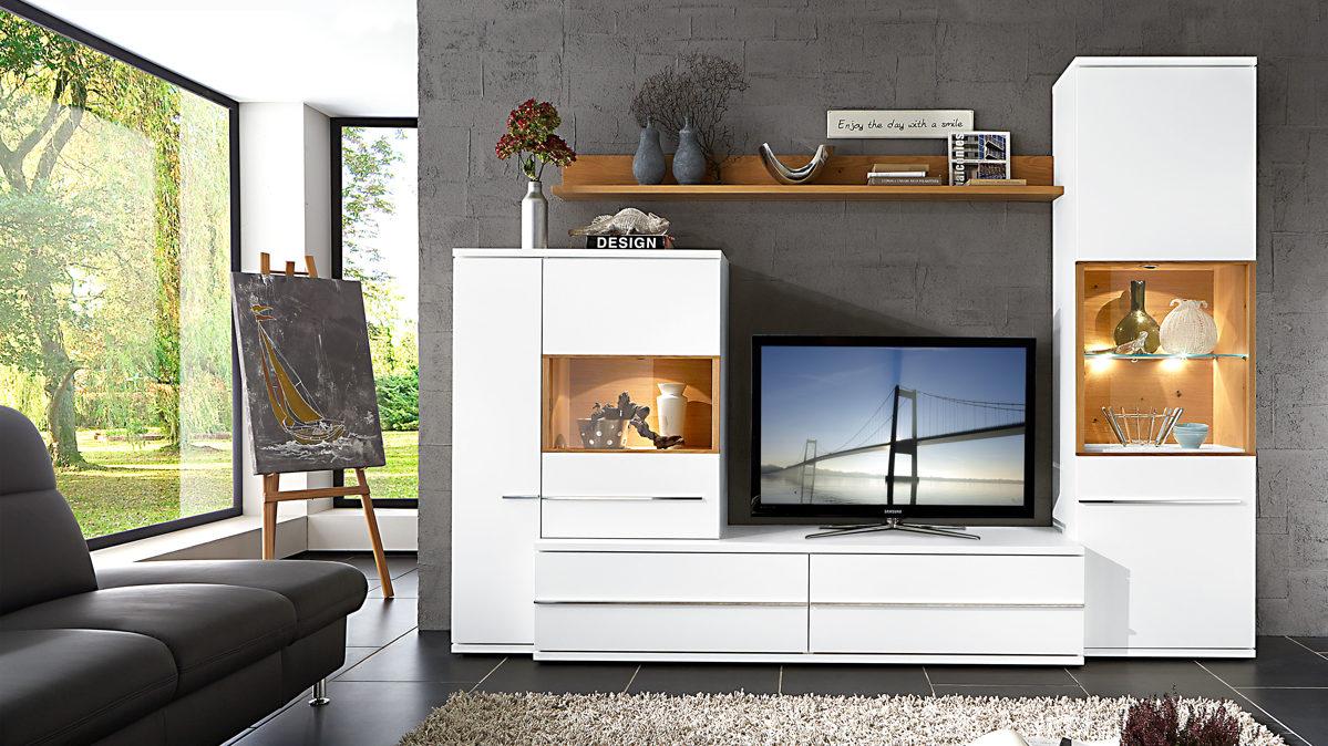 loddenkemper moderne wohnkombination glei ner. Black Bedroom Furniture Sets. Home Design Ideas