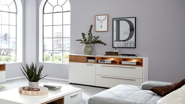 Interliving Wohnzimmer Serie 2102 - Sideboard 510106 mit Beleuchtung