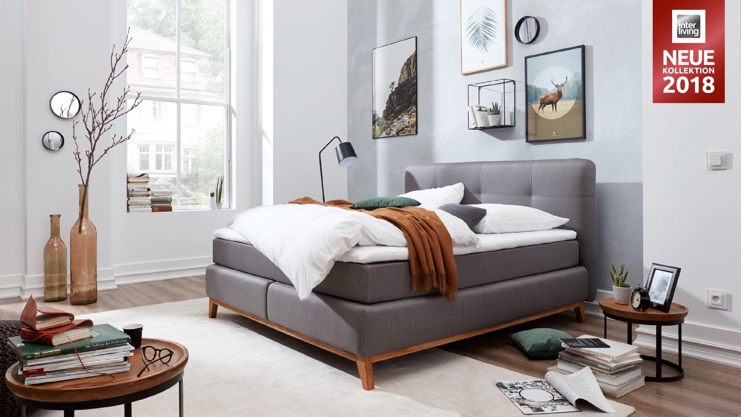interliving boxspringbett serie 1406 glei ner. Black Bedroom Furniture Sets. Home Design Ideas