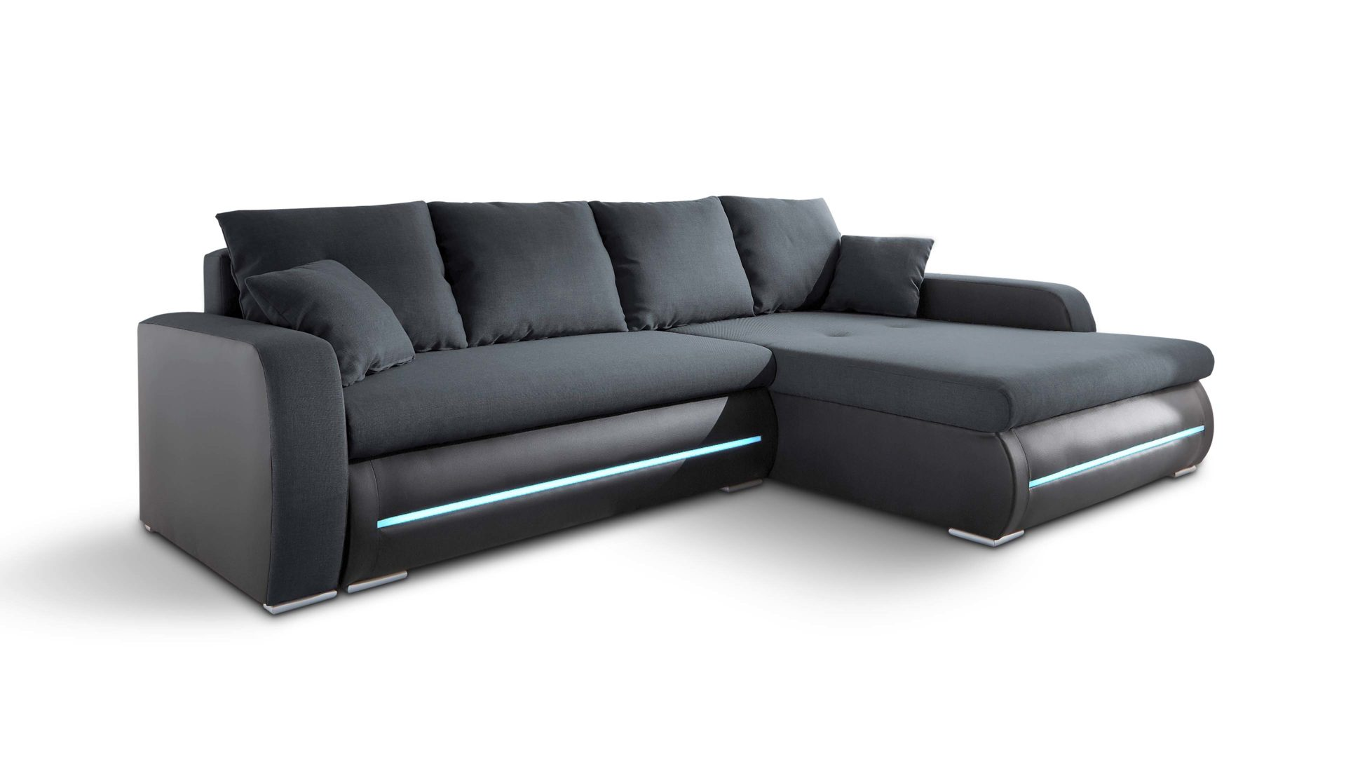 ecksofa bzw eckcouch mit led beleuchtung glei ner. Black Bedroom Furniture Sets. Home Design Ideas