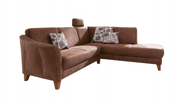 WOODS & TRENDS Ecksofa - Eckcouch im Landhausstil