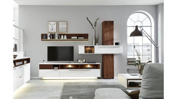 Interliving Wohnzimmer Serie 2102 - Wohnkombination 510801S mit Beleuchtung