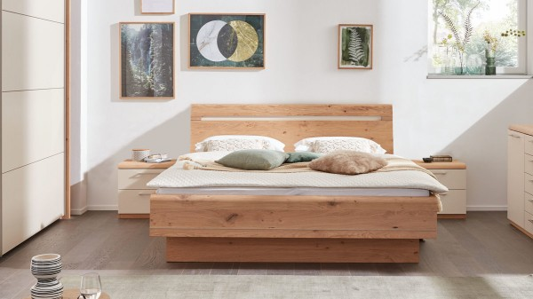 Interliving Schlafzimmer Serie 1013 - Doppelbettgestell mit Nachtkonsolen
