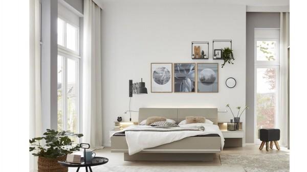 Interliving Schlafzimmer Serie 1009 - Doppelbettgestell mit Beleuchtung