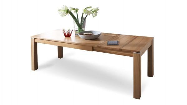 ausziehbarer Esstisch bzw. Massivholztisch