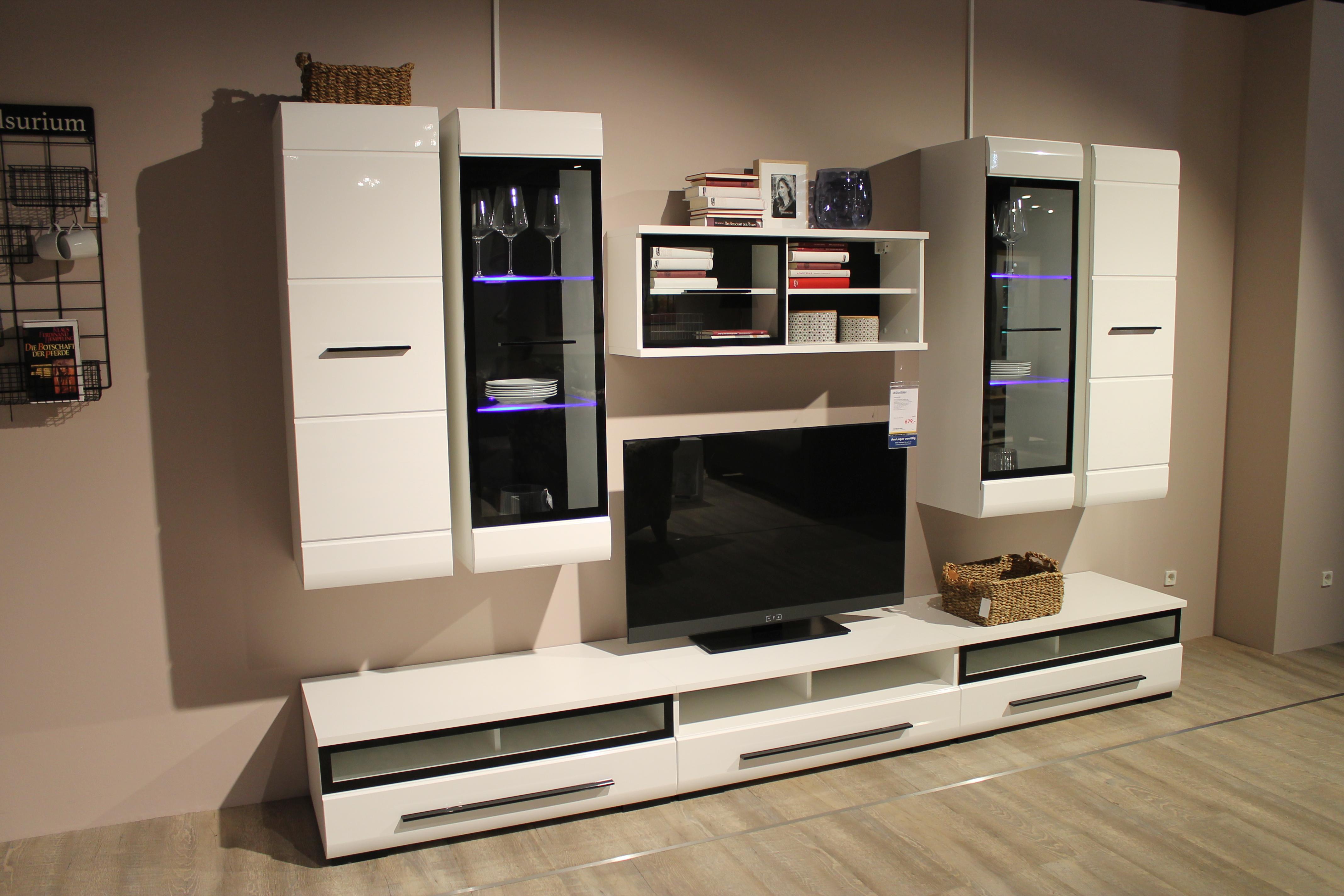 Wohnzimmer Klisch | Anbauwand Hit Ausstellungsstucke Wohnzimmer Mobel Gleissner