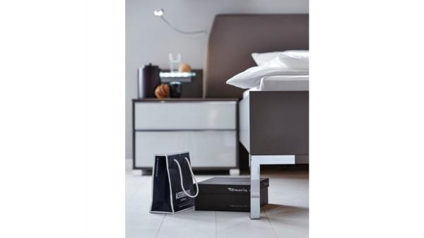 Interliving Schlafzimmer Serie 1006 - Nachtkommoden-Set mit Aufsätzen