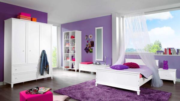 PAIDI Jugendzimmer Sophia mit Bett und Kleiderschrank