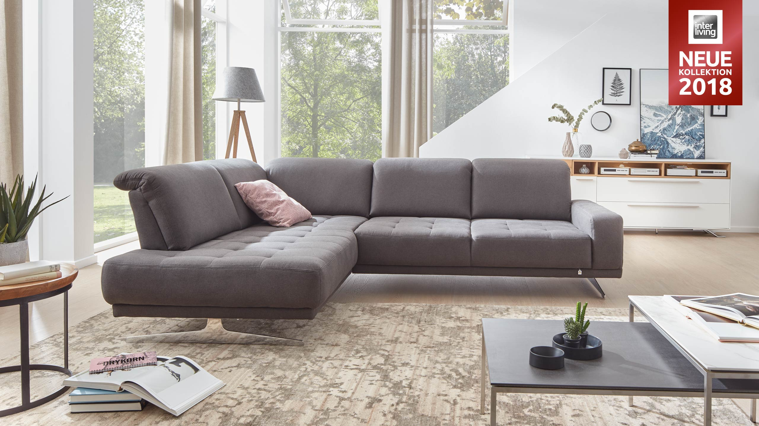 Interliving Sofa Serie 4250 Eckkombination Gleissner