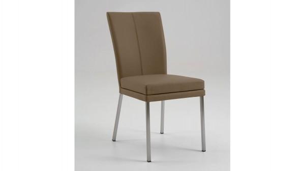 laVie Stuhl mit Lederbezug