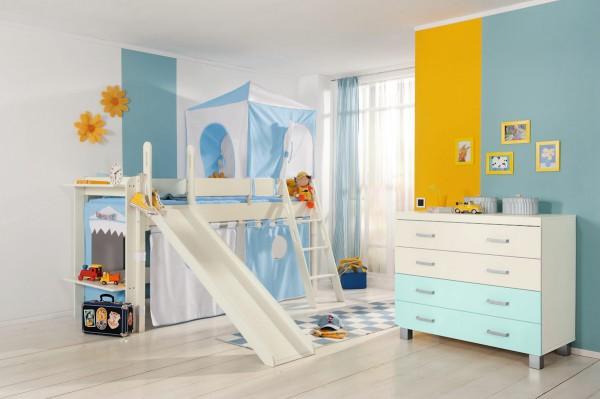 PAIDI Spielbettgestell mit Rutsche - Kinderbett