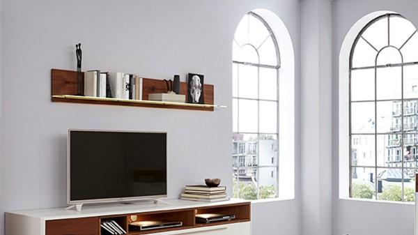Interliving Wohnzimmer Serie 2102 - Wandregal 617